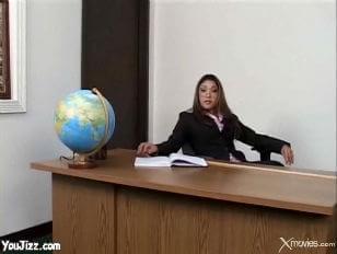 Asian student her teacher hot fucks