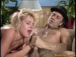 Hot blonde girl having sex on sofa. Horny blonde girl having perfect sex on ...