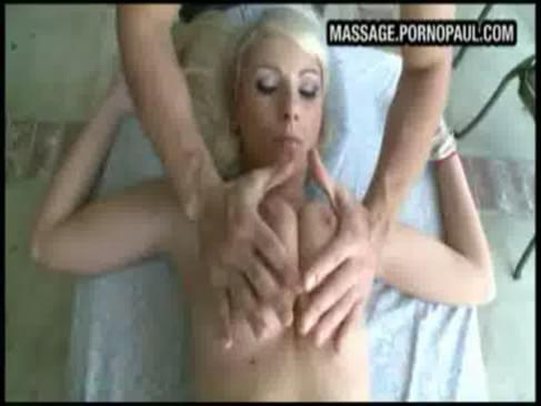 Hot blonde massage sex. Guy slips his throbbing dick into hot naked blonde ...