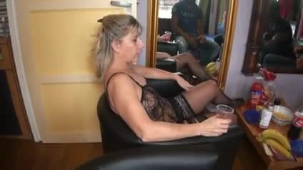 Hot blonde Milf interracial