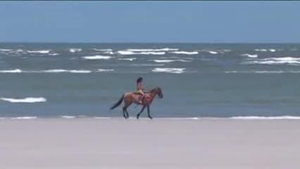 Brazilian threesome on the beach