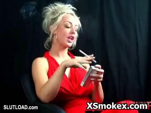 Busty smokers fucked
