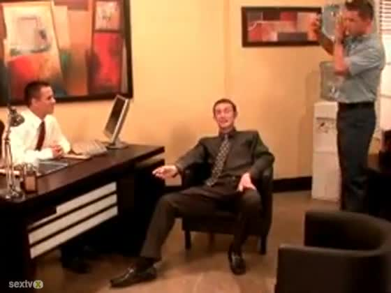 Hot Gay Office Threesome