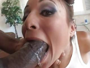Gagging black cock