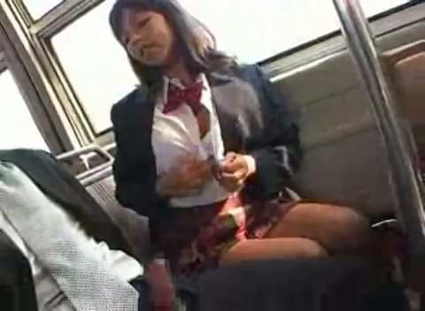 Handjob on train