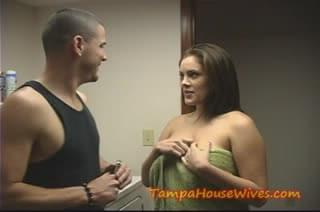 Hot Milf Housewife fucks the PLUMMER