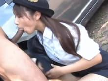 Hot sexy blonde giving blowjob