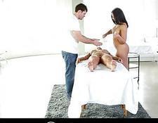 Massage Hot gets wild! threesome
