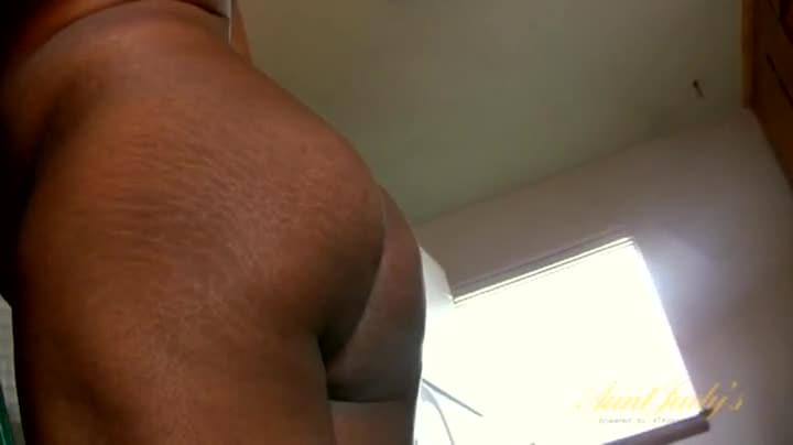 House Cleaning Black Chick Is Fully Nude