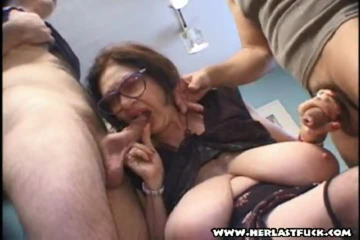 Giant cock and granny
