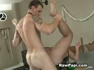 Hunk pounding hard handsome papi small asshole