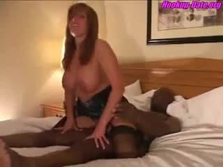 Husband filming wife interracial