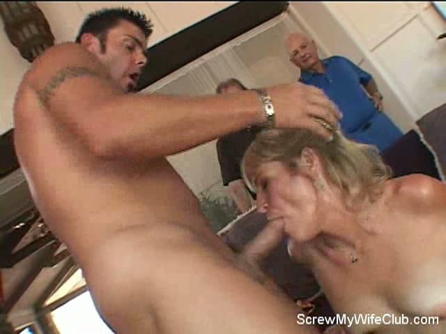 Husband Watches His Wife Getting Fucked Hard by