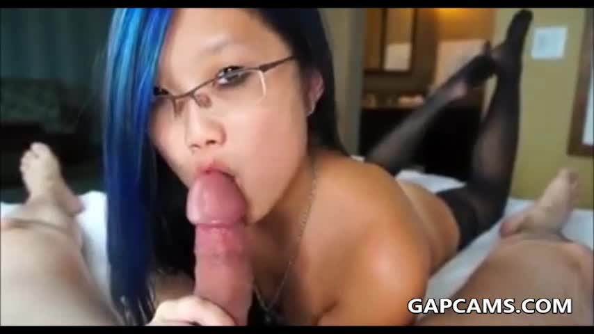 Asian first time blowjob