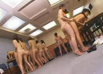 Jap strap on orgy opinion