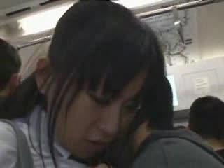 lesbian chikan japan groping sexy babes naked wallpaper