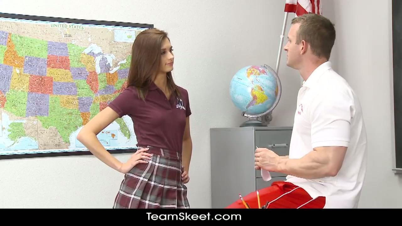 image Innocenthigh smalltits schoolgirl teen rides teachers cock