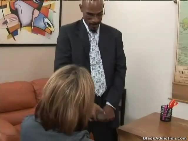 Interracial secretary sex tube