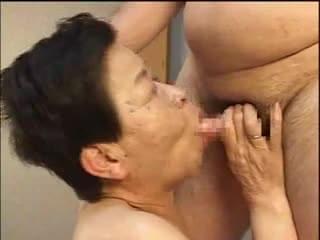 asian granny blowjob