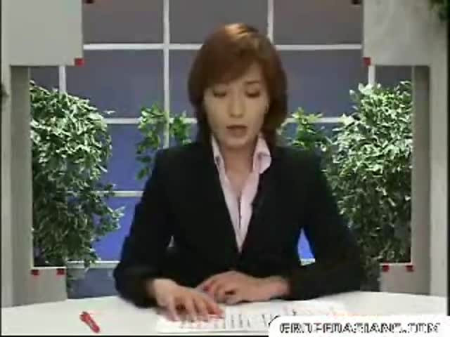 Japanese anchorwoman bukkake