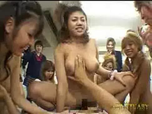 Japanese schoolgirls groupsex