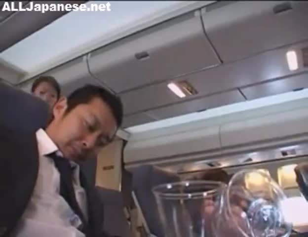 japanese stewardess handjob uncensored Xxx clips