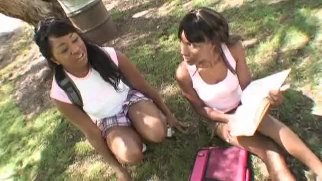 Amile waters and jaden simone in strap on fuck