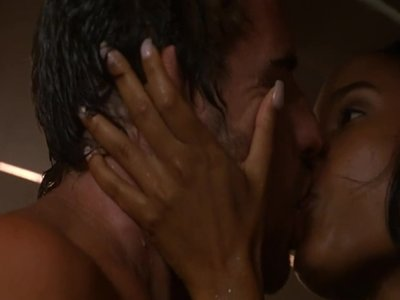 Joy bryant naked in three way