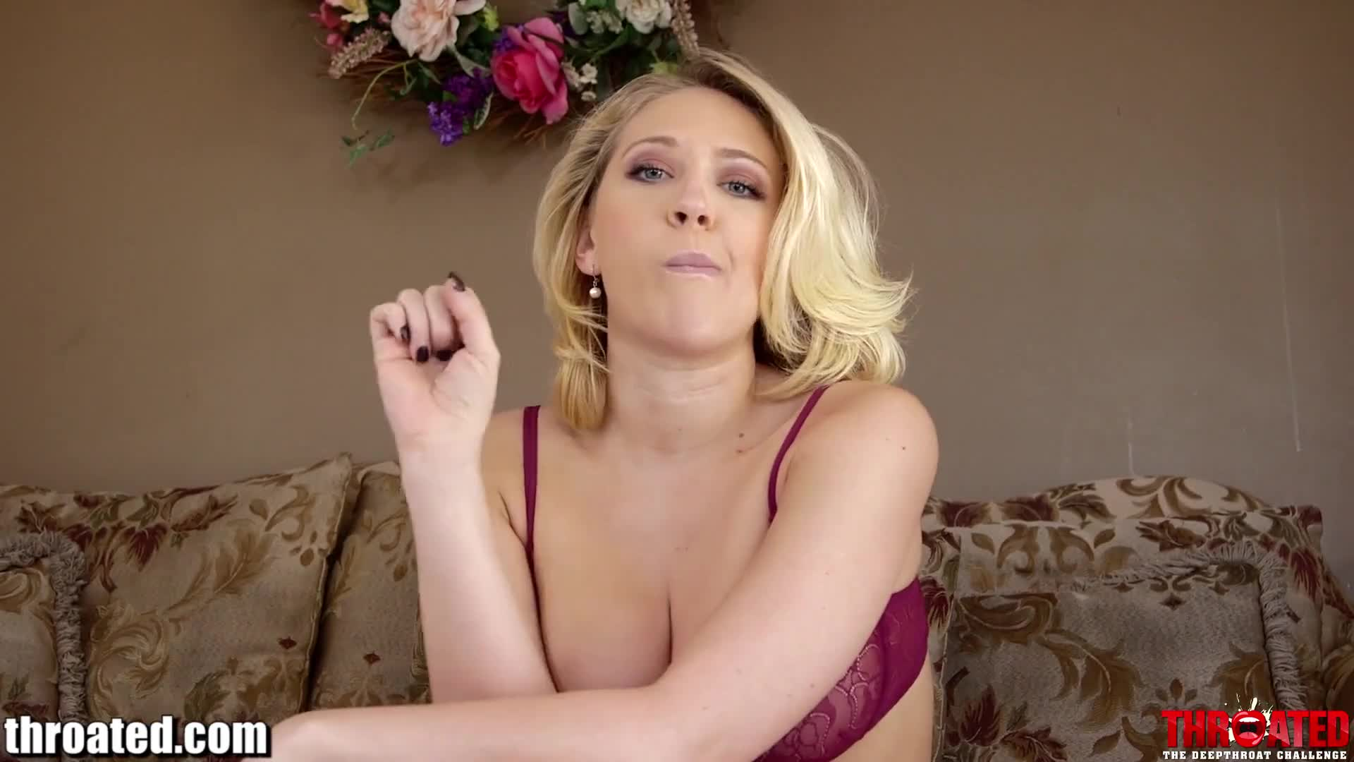 Misterfake beautiful blonde milf gives outstanding blowjob