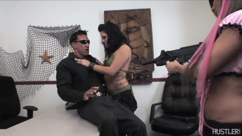 Hot air hostage big boobs
