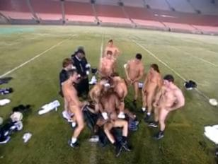 Cheerleader gabgbanged by football team