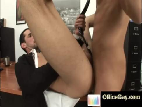 Kinky anal gay sex at office with hot studs loving it deep