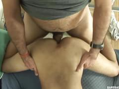 Daddy And Twink Flip Fuck Bareback