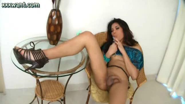 Latina anal toy