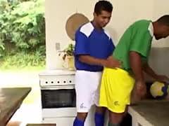 Latino soccer jocks fuck bareback