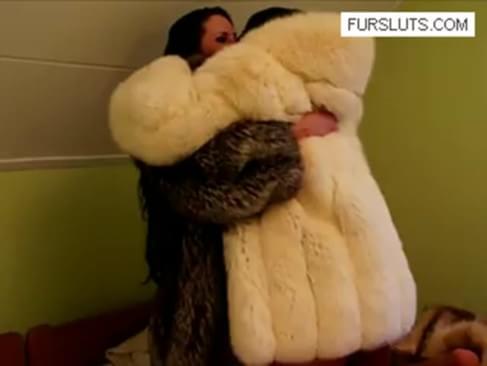Lesbian sex in fur