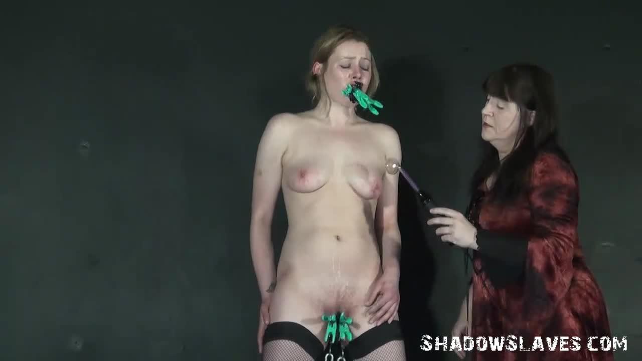Tied Up Lesbian Sex Slave