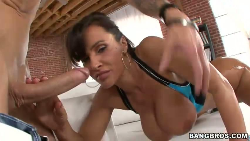 Analed carmella bing jizzed in a 3some