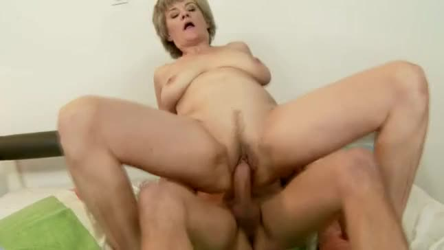 Granny rims 5 young studs to cum 5