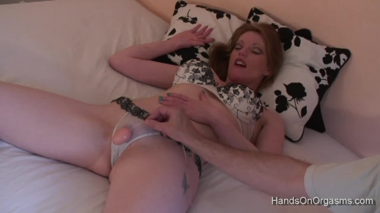 Handjob orgasms with several cumshots