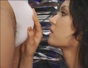 Lesbian fingering in shower