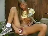 Sex toys in girls shower webcam