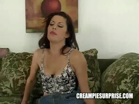 Unexpected vaginal cumshot
