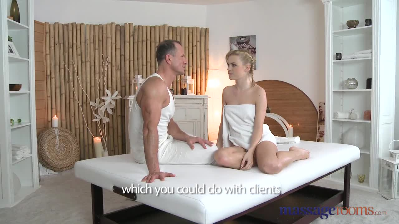 Massage rooms petit ballerina has her little hole stretched studs big cock 4