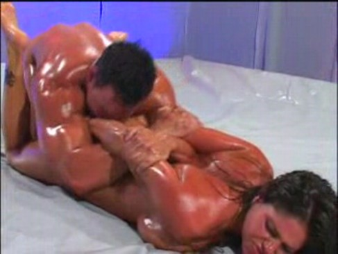 mixed oil wrestling