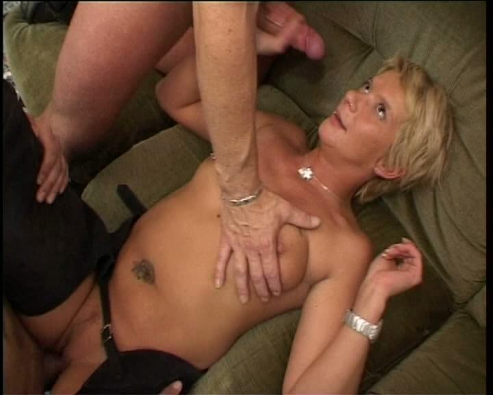 Amateur blonde wife interracial gangbang