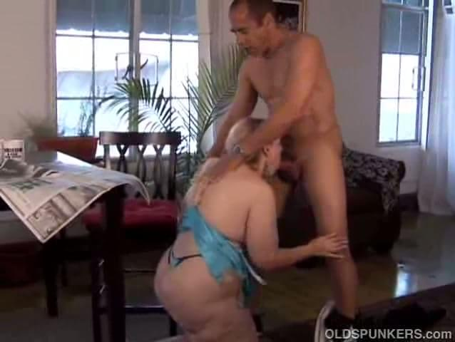 Mature blonde throat fucked