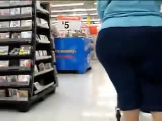 Mature gilf fat ass shopper