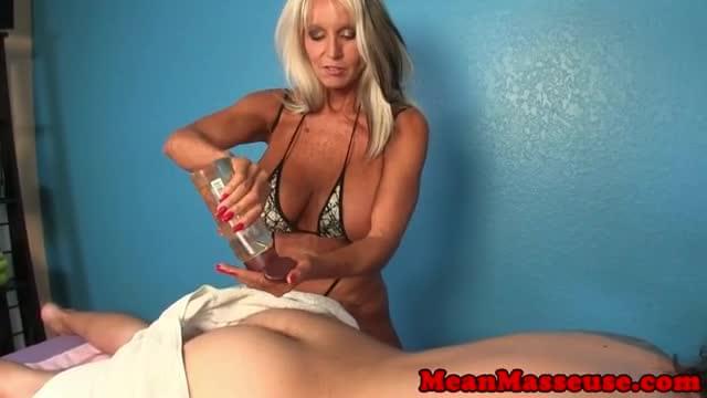 Mature masseuse sally dangelo wildly wanking cock