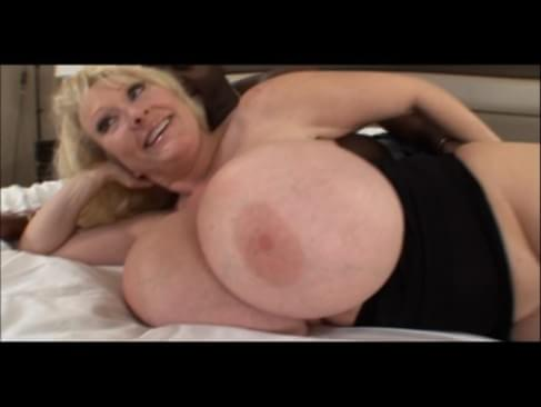 Mature milf with huge melons taking black cock